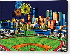 Pittsburgh Pirates Digital Art Acrylic Prints