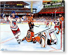 Nhl Hockey Drawings Acrylic Prints