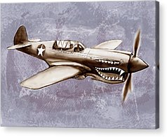 Warhawk Mixed Media Acrylic Prints