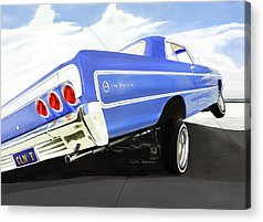 Chevrolet Digital Art Acrylic Prints