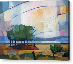 Fjord Paintings Acrylic Prints