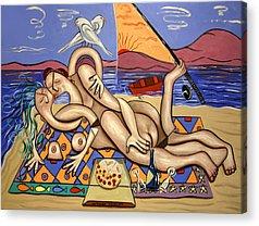 Love On A Deserted Island Acrylic Prints