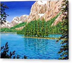 Lake Paintings Acrylic Prints