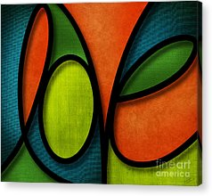 Joy Mixed Media Acrylic Prints