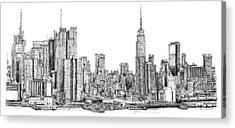 Skylines Drawings Acrylic Prints