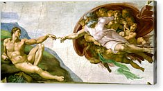 The Creation Of Adam Acrylic Prints