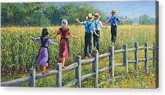 Amish Family Acrylic Prints