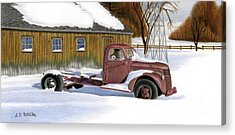 Old Truck Drawings Acrylic Prints