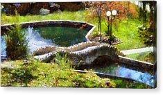 Indiana Autumn Mixed Media Acrylic Prints