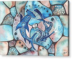 Sharks Paintings Acrylic Prints