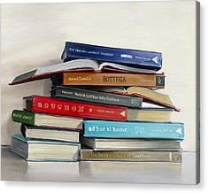 Cookbook Paintings Acrylic Prints