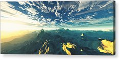 Panoramic Digital Art Acrylic Prints