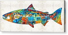 Salmon Acrylic Prints