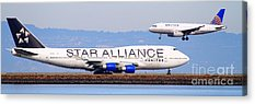Star Alliance Airlines Photographs Acrylic Prints