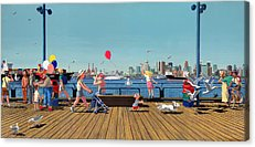 Burrard Inlet Paintings Acrylic Prints