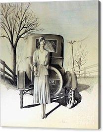 Fence Pole Drawings Acrylic Prints