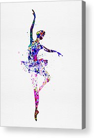 Ballerina Mixed Media Acrylic Prints