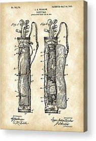 Patent Illustration Acrylic Prints