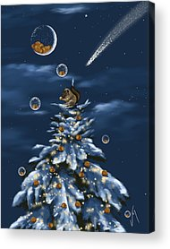 Christmas Squirrels Acrylic Prints