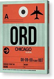 Chicago Digital Art Acrylic Prints