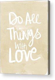 With Love Acrylic Prints