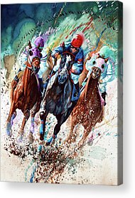 Horse Racing Paintings Acrylic Prints