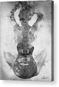 Black And White Digital Art Acrylic Prints