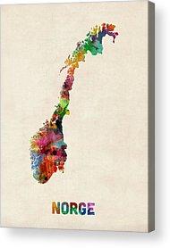 Norway Digital Art Acrylic Prints
