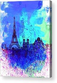 Paris Skyline Acrylic Prints
