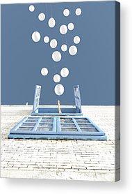 Blue Brick Acrylic Prints