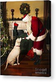 Santa Claus Photographs Acrylic Prints