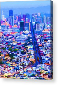 Birdseye Digital Art Acrylic Prints