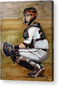 Buster Posey Artwork Acrylic Prints
