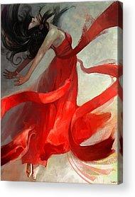 Red Art Acrylic Prints