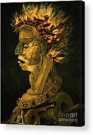 Gold Chain Acrylic Prints