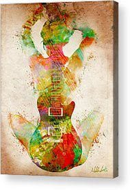 Watercolor Digital Art Acrylic Prints