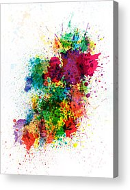 Geography Acrylic Prints