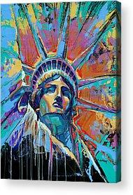 Liberty Paintings Acrylic Prints