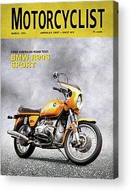 Motorcyclist Acrylic Prints