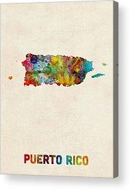 Puerto Rico Digital Art Acrylic Prints
