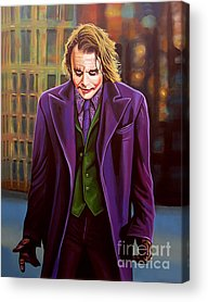 Heath Ledger Acrylic Prints