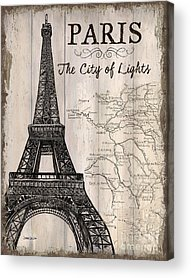 Paris Mixed Media Acrylic Prints