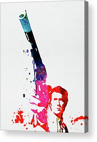 Clint Eastwood Mixed Media Acrylic Prints