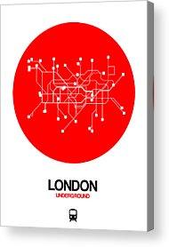 Subway Map Acrylic Prints