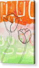 Abstract Floral Acrylic Prints