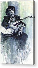 Blues John Lee Hooker Acrylic Prints
