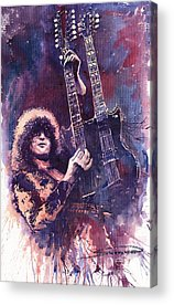 Jimmy Page Paintings Acrylic Prints