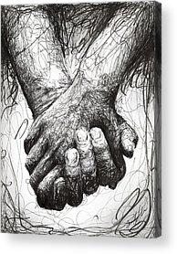 Hands Digital Art Acrylic Prints