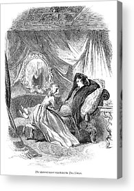 Louisa May Alcott Drawings Acrylic Prints