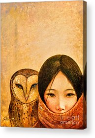 Designs Similar to Girl With Owl by Shijun Munns